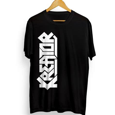 jual kaos distro kreator band 2 kaos dengan gambar logo atau lambang band kreator warna hitam