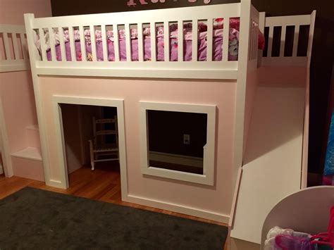 playhouse loft bed  stairs   ana white