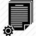 Batch Icon Processing Document Configuration Icons Office