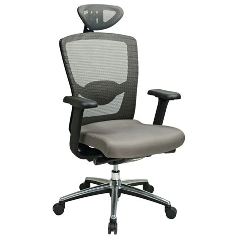 pro line ii gray progrid high back office chair with