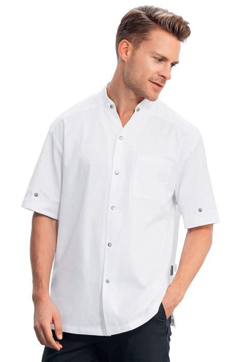 veste de cuisine manche courte veste de cuisine escure blanche manche courte