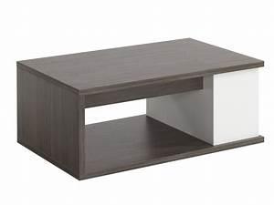 Table Basse Vente Unique : table basse aldana plateau relevable weng et blanc ~ Nature-et-papiers.com Idées de Décoration
