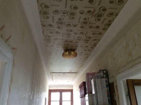 peinture ou toile de verre sur plafond avec vieux papier pei 5 messages