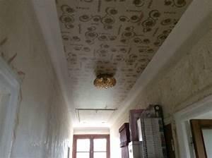 Pose Toile De Verre Plafond : peinture ou toile de verre sur plafond avec vieux papier ~ Dailycaller-alerts.com Idées de Décoration