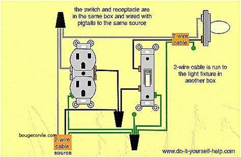 wiring diagram light switch outlet somurich