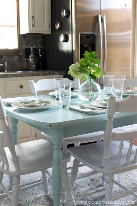 painted kitchen table ideas 102 best dining tables chairs chalk paint ideas images
