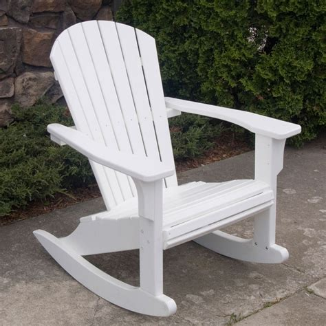 Polywood Seashell Adirondack Rocking Chair by Polywood Seashell Rocking Chair Adirondack Rocking Chair
