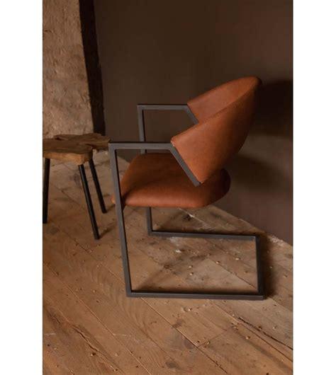 bureau cuir design chaise design industriel loft cuir et métal marron chic et