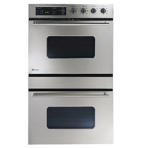 zetsbss ge monogram  european design stainless steel double convection wall oven