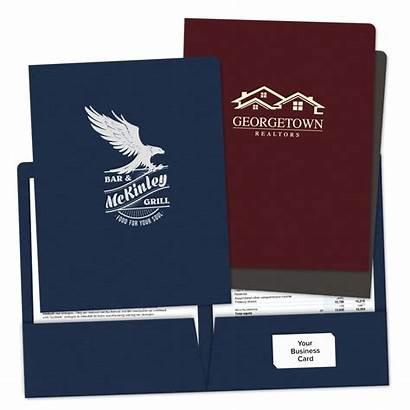 Folders Pocket Foil Stamped Custom Paper Minespress