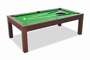 billard convertible en table a manger noyer billards With table de billard transformable en table de salle a manger