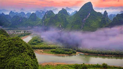 广西桂林山水唯美风景高清电脑壁纸图片_桌面壁纸下载_四季图片