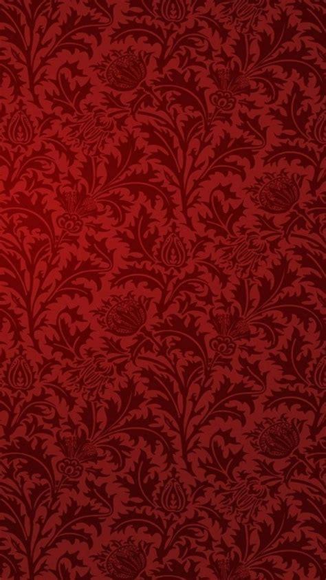 red patterns damask wallpaper