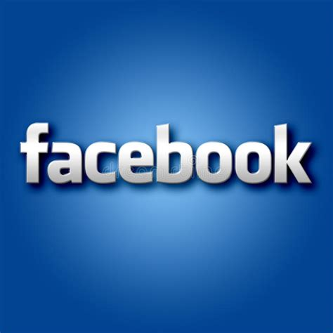 3D Facebook On Blue Background Editorial Photo - Image of ...