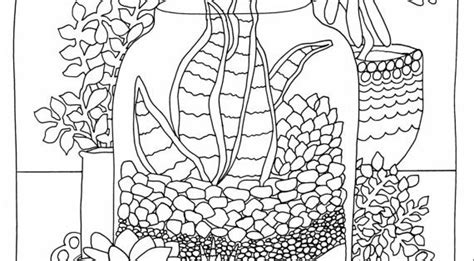 succulent terrarium coloring page instant digital  kilykostudio  cool