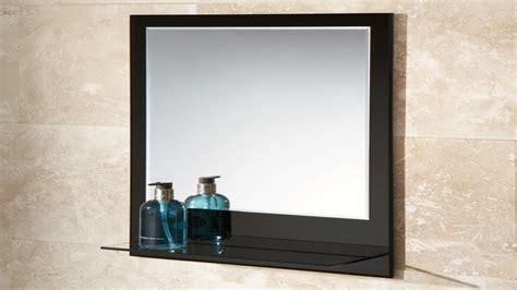 Bathroom Mirror And Shelf, Black Bathroom Mirror With