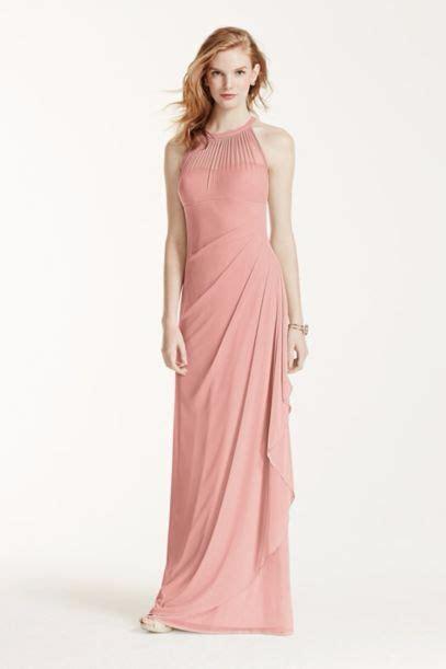 davids bridal bridesmaid dress colors david s bridal mesh dress with illusion neckline