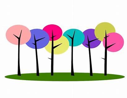 Row Clipart Star Trees Colorful Clipartpanda Clip