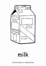 Milk Colouring Activity Village Explore Activityvillage sketch template