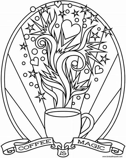 Coffee Starbucks Coloring Pages Magic Printable Colouring
