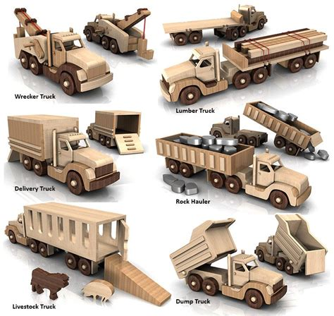 build  powerful pete  truck fleet full size wood toy