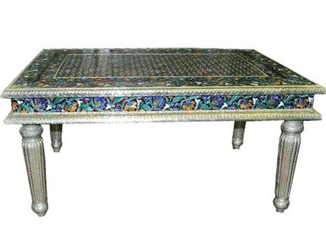 hand painted coffee table hand painted enamel meenakari coffee table india furniture