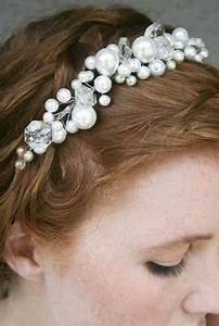 Pearl Tiara With Chandelier Crystals Simple Wedding