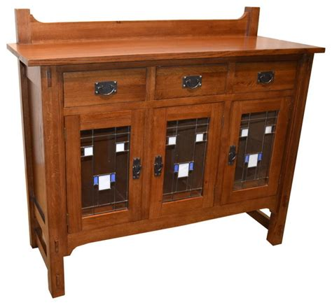 Craftsman Sideboard by Mission Stained Glass Buffet Craftsman Buffets And