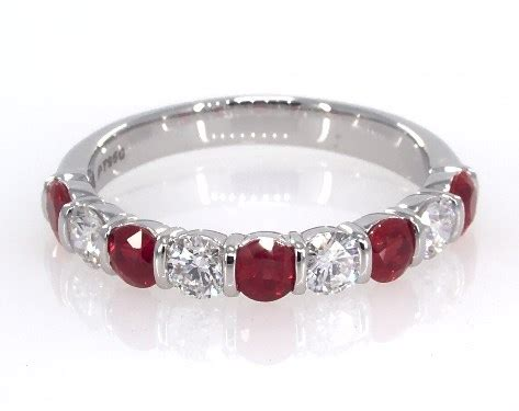 platinum ruby wedding ring wedding rings womens stackable platinum ruby and anniversary ring item 62488
