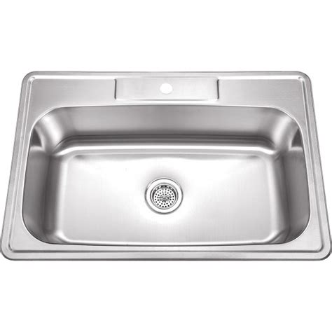 one bowl kitchen sink 33 inch stainless steel top mount drop in single bowl