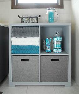 Bathroom Storage Cabinet Makeover - The Gunny Sack