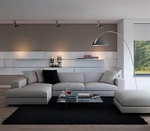 Grau Weiße Couch : wohnideen wohnzimmer graues sofa wei e w nde ~ Michelbontemps.com Haus und Dekorationen