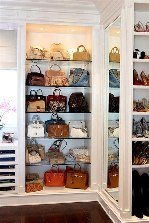 Purse Closet by 55 Handbag Shelves Organizer Closet Shelf Purse Organizer