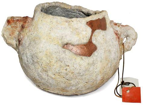 intact  encrusted copper cooking pot   atocha  daniel frank sedwick llc