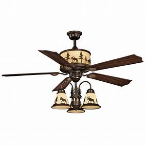 Rustic lodge ceiling fan with light kit fans