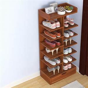 6, 7, 8, Layer, Wooden, Shoe, Racks, Storage, Organizer, Shelf, With, Drawer, Cabinet, Sale