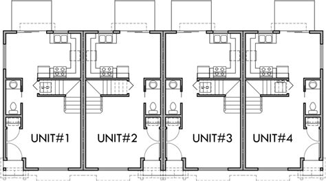 3 Bedroom Townhouse Plans Australia by Floor Plan 2 For F 536 4 Plex Plans 2 Story