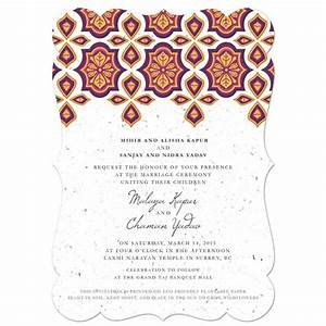 indian motif plantable wedding invitation plantable With wedding invitation motifs free