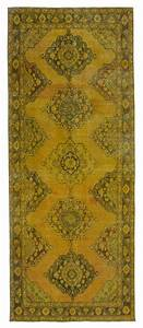 5x12, Yellow, Kitchen, Entry, Overdyed, Runner, Rug