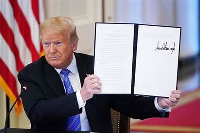 Trump Executive Order President Signs Donald Relief