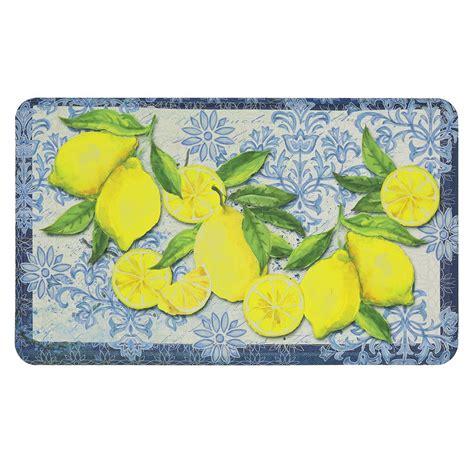 lemon kitchen accessories mohawk home italian lemons 18 in x 30 in kitchen 3718