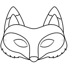 Fox Mask Template Printable The Create Your Fox Mask