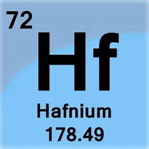 Periodic Table Parts Hafnium Hf Edgetech Industries A Worldwide Materials