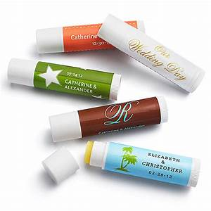 personalized lip balm tube favors With custom chapstick tubes