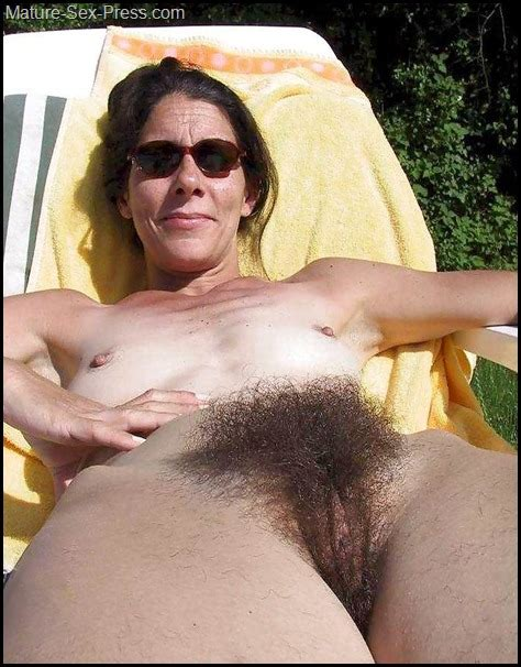 Flat Breast And Very Hairy Pussy For This Almost Granny