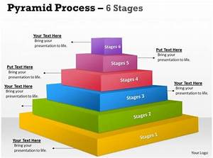 6 Step In A Pyramid Diagram Slides Presentation Diagrams Templates Powerpoint Info Graphics
