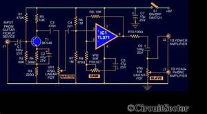 Guitar Preamplifier Circuit Using Ic Tl071