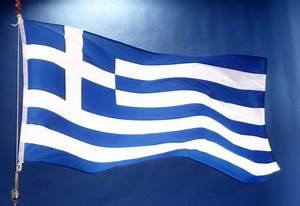 Vlag Griekenland wapperend - Europa Nu