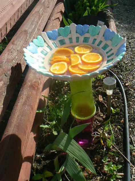 hometalk crafts   backyard glass flower plates