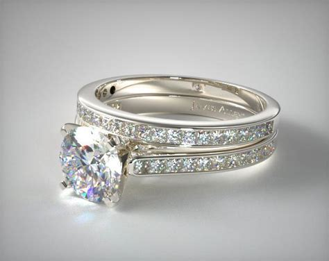 channel set princess cut engagement ring
